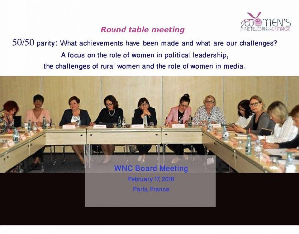 WNC Board Meeting February 17, 2018
